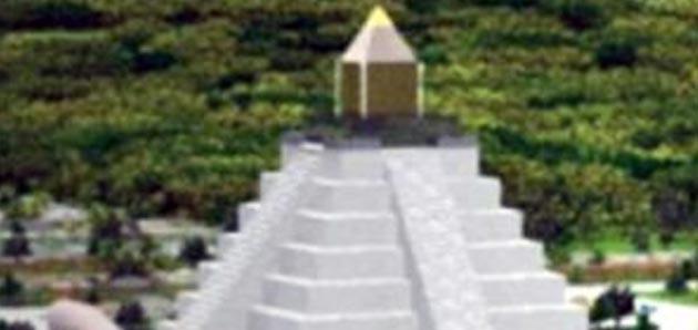 Monumento Escalonado em Zigurats ressonando com a Pirâmide de degraus em Saqqara